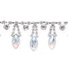 Rhinestone Trim Navette By Yard 15mm Crystal Aurora Borealis/silver